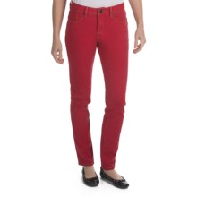 Worn Poppy Colored Skinny Jeans - Piece-Dyed Denim (For Women) in Really Red - Closeouts