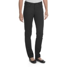Worn Poppy Skinny Jeans - Brushed Sateen (For Women) in Black - Closeouts