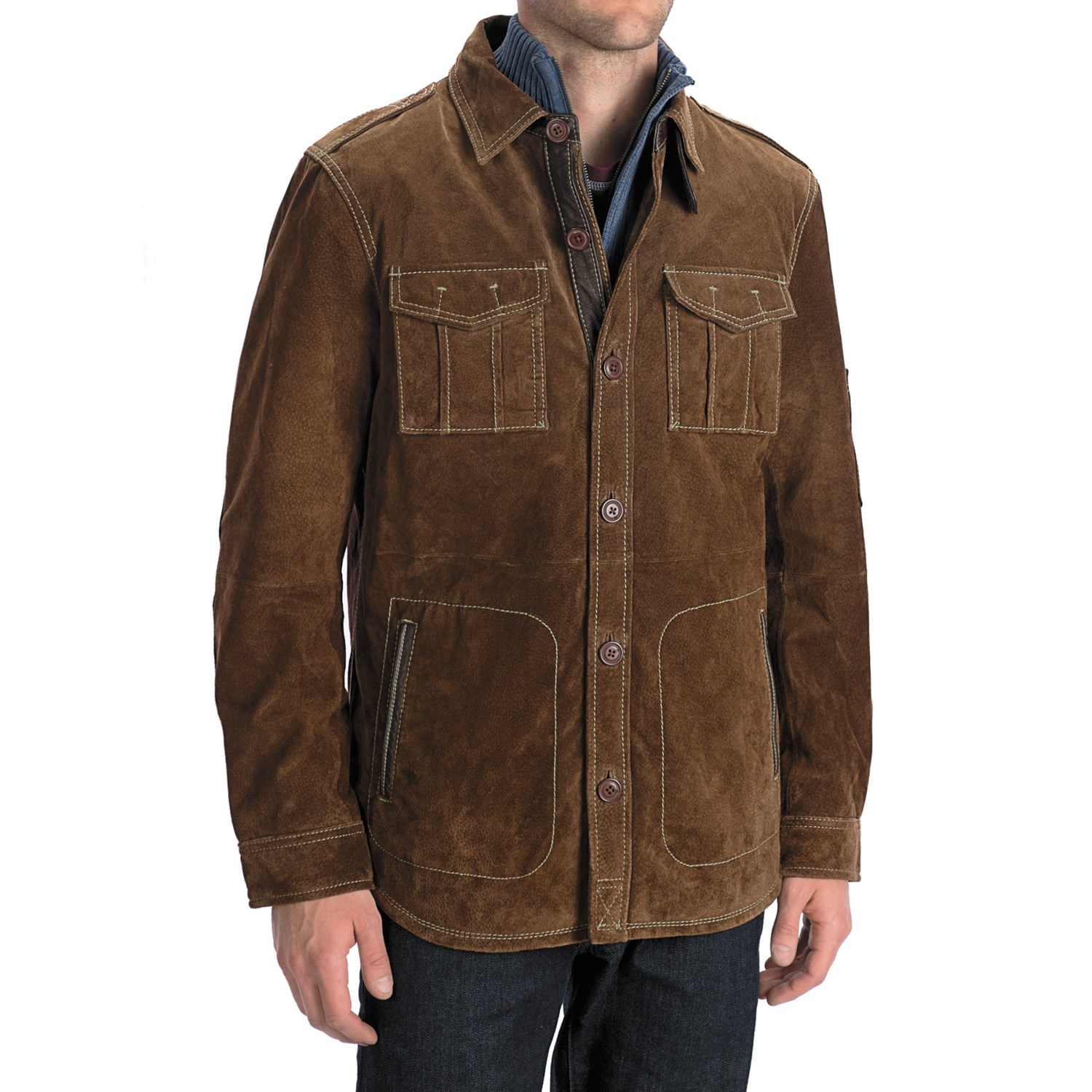 Worn Shirt Jacket Suede For Men Save 54