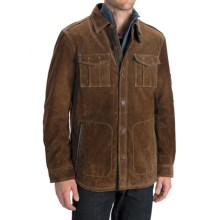 Worn Shirt Jacket - Suede (For Men) in Dark Brown - Closeouts