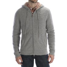 Worn Wool-Blend Hoodie Sweater - Full Zip (For Men) in Grey - Closeouts