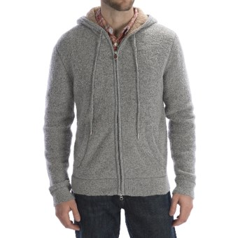 Worn Wool-Blend Hoodie Sweater - Full Zip (For Men) in Grey