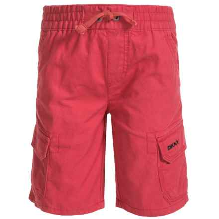 Woven Cargo Shorts (For Little Boys) in Washed Red - Closeouts