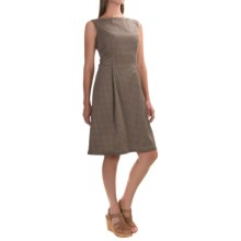 Woven Cotton Dress - Sleeveless (For Women) in Brown Geo - 2nds