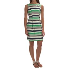 Woven Cotton Dress - Sleeveless (For Women) in Green Stripe - 2nds