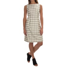 Woven Cotton Dress - Sleeveless (For Women) in White/Black Plaid - 2nds