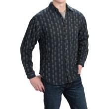 Woven Cotton Shirt - Long Sleeve (For Men) in Smoke - 2nds