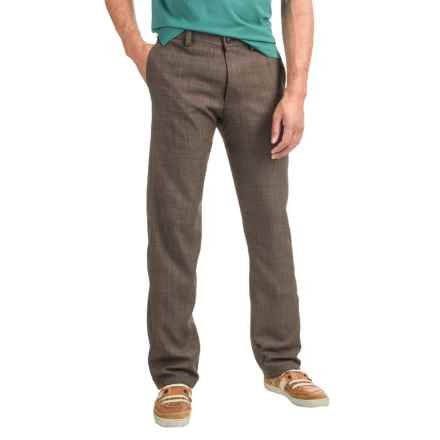 Woven Dress Pants (For Men) in Brown - 2nds