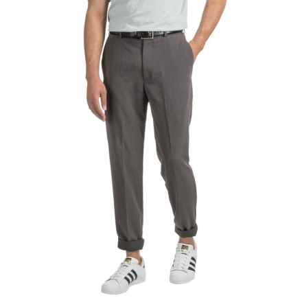 Woven Dress Pants (For Men) in Charcoal - 2nds