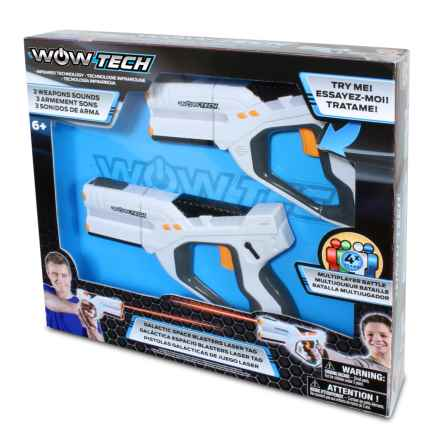 WOW TECH Infrared Galactic 4 Team Space Laser Tag Set in See Photo - Closeouts