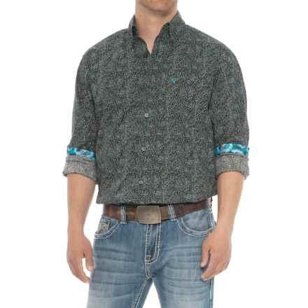 Wrangler 20X Competition Advanced Comfort Print Shirt - Long Sleeve (For Men) in Black/Green/Blue/Multi - Overstock