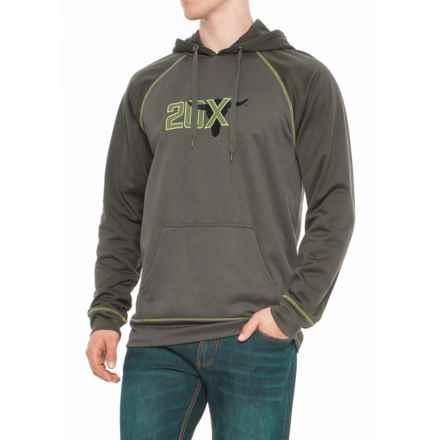 Wrangler 20X Fleece Hoodie (For Big and Tall Men) in Green Heather/Dark Green - Overstock