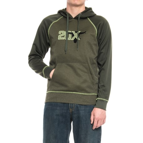 Wrangler 20X Fleece Hoodie (For Men) in Green Heather/Dark Green
