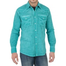 Wrangler 20X Plaid Shirt - Snap Front, Long Sleeve (For Men) in Blue/White Plaid - Closeouts