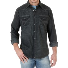 Wrangler 20X Plaid Shirt - Snap Front, Long Sleeve (For Men) in Charcoal - Closeouts