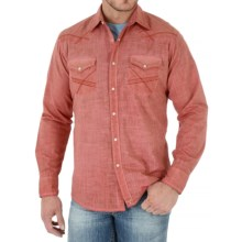 Wrangler 20X Plaid Shirt - Snap Front, Long Sleeve (For Men) in Coral - Closeouts