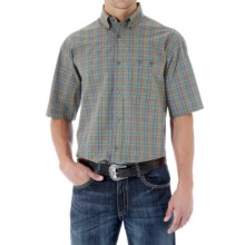 Wrangler 20X Shirt - Button Front, Short Sleeve (For Men) in Olive Multi - Closeouts