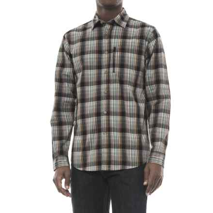 Wrangler Advanced Comfort Work Shirt - Long Sleeve (For Men) in Black Plaid - Closeouts