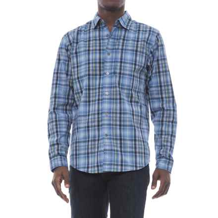 Wrangler Advanced Comfort Work Shirt - Long Sleeve (For Men) in Blue Plaid - Closeouts