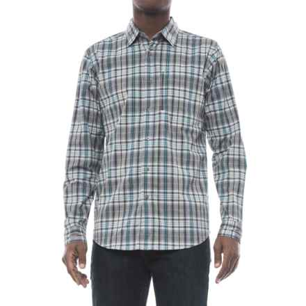 Wrangler Advanced Comfort Work Shirt - Long Sleeve (For Men) in Grey Plaid - Closeouts