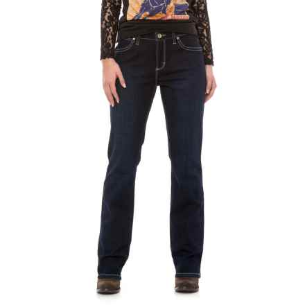 Wrangler Aura Instantly Slimming Jeans - Straight Leg (For Women) in Ls Wash - 2nds