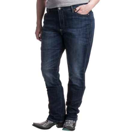 Wrangler Aura Instantly Slimming Jeans - Straight Leg (For Women) in Ra Wash - 2nds