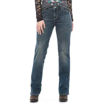 Wrangler Aura Instantly Slimming Jeans - Straight Leg (For Women) in Rn Rn Wash - 2nds