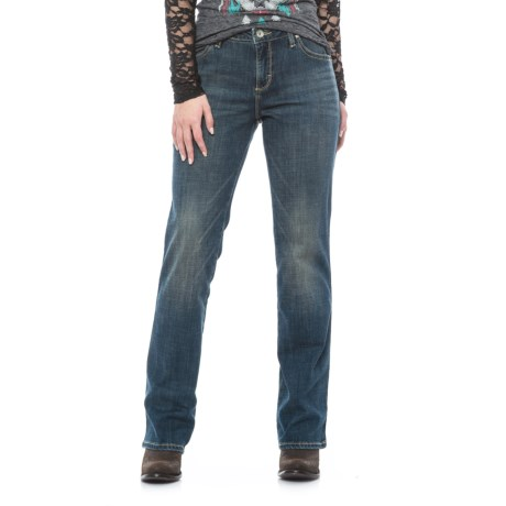 Wrangler Aura Instantly Slimming Jeans - Straight Leg (For Women) in Rn Rn Wash