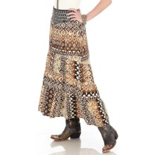 Wrangler Aztec Print Embellished Skirt - Rayon (For Women) in Multi Print - Closeouts