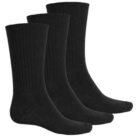 Wrangler Black Rib Socks - 3-Pack, Mid Calf (For Men) in Black - Closeouts
