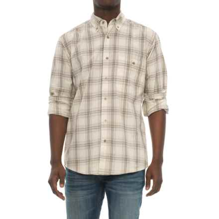 Wrangler Blue Ridge Easy-Care Work Shirt - Long Sleeve (For Men) in Cream Plaid - Closeouts