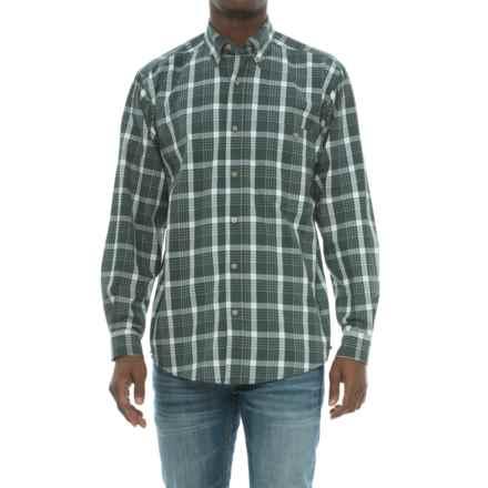 Wrangler Blue Ridge Easy-Care Work Shirt - Long Sleeve (For Men) in Green Plaid - Closeouts