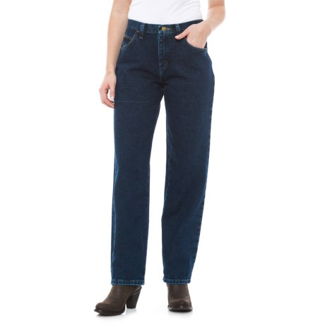 Wrangler Blues Relaxed Fit Jeans - High Rise (For Women) in Antique Indigo