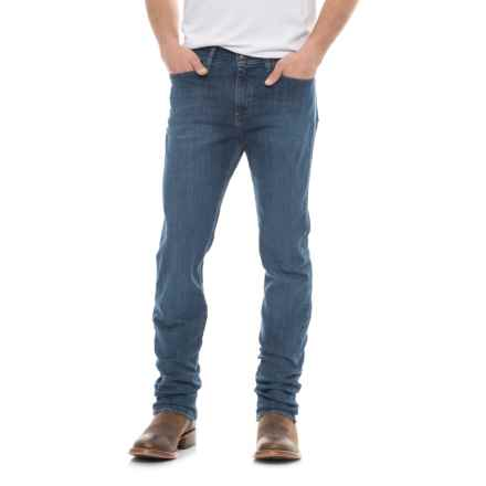 Wrangler Brockton Regular Slim Jeans (For Men) in Steel Blue Wash - 2nds