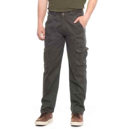 Wrangler Cargo Pants - Loose Fit (For Men) in Anthracite - 2nds