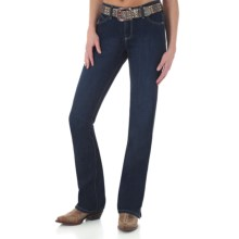 Wrangler Cash Ultimate Riding Jeans - Notched Bootcut (For Women) in Onyx - 2nds