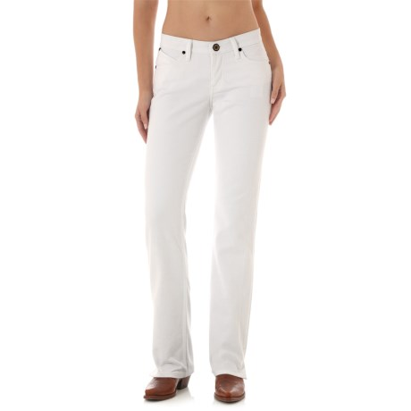 Wrangler Cash Ultimate Riding Jeans - Notched Bootcut (For Women) in White