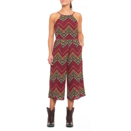 567532d532c5 Wrangler Chevron Print Jumpsuit - Sleeveless (For Women) in Multicolor Red  - Closeouts