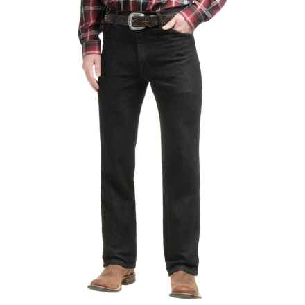 Wrangler Classic Cowboy Cut® Stretch Jeans - Slim Fit (For Men) in Black - 2nds
