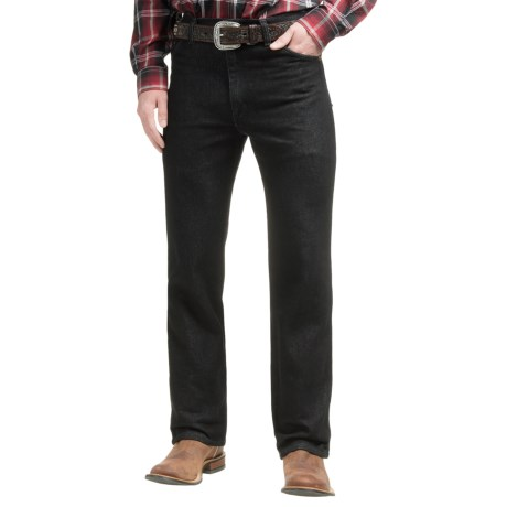 Wrangler Classic Cowboy Cut® Stretch Jeans - Slim Fit (For Men) in Black