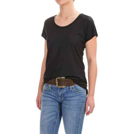 Wrangler Cool-Performance Shirt - Short Sleeve (For Women) in Black - Closeouts