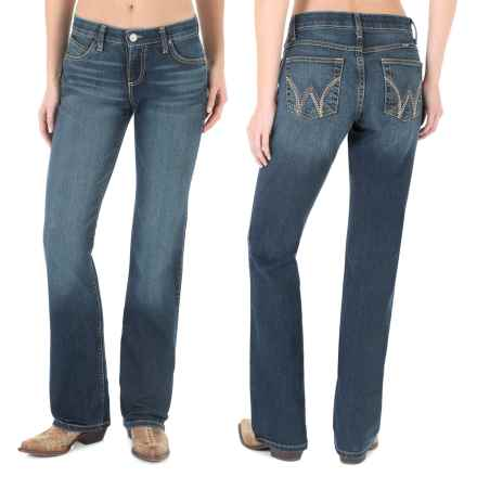 Wrangler Cool Vantage Q-Baby Jeans - Straight Leg (For Women) in Bt Blue Tint - Closeouts