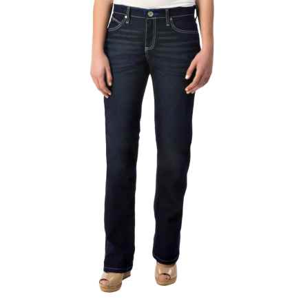 Wrangler Cool Vantage Q-Baby Jeans - Straight Leg (For Women) in Dark Wash - Closeouts