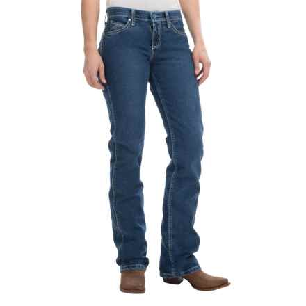 Wrangler Cool Vantage Q-Baby Jeans - Straight Leg (For Women) in Mid Stone - Closeouts