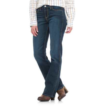 Wrangler Cool Vantage Q-Baby Riding Jeans - Straight Leg, Stretch Denim (For Women) in Dark Wash - Closeouts