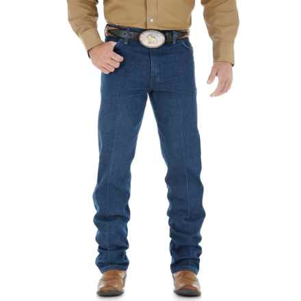 Wrangler Cowboy Cut Jeans - Original Fit (For Big and Tall Men) in Pre Wash Denim - 2nds