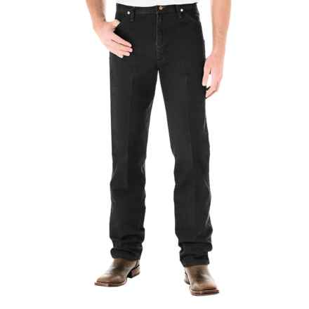 Wrangler Cowboy Cut Jeans - Original Fit (For Men) in Shadow Black - 2nds