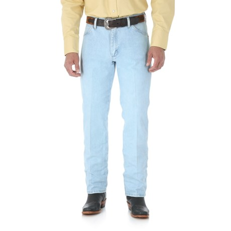76d6a4d7 Wrangler Cowboy Cut Jeans - Original Fit (For Men) in Stone Bleached Denim