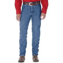 Wrangler Cowboy Cut Jeans - Original Fit (For Men) in Stonewash Denim - 2nds