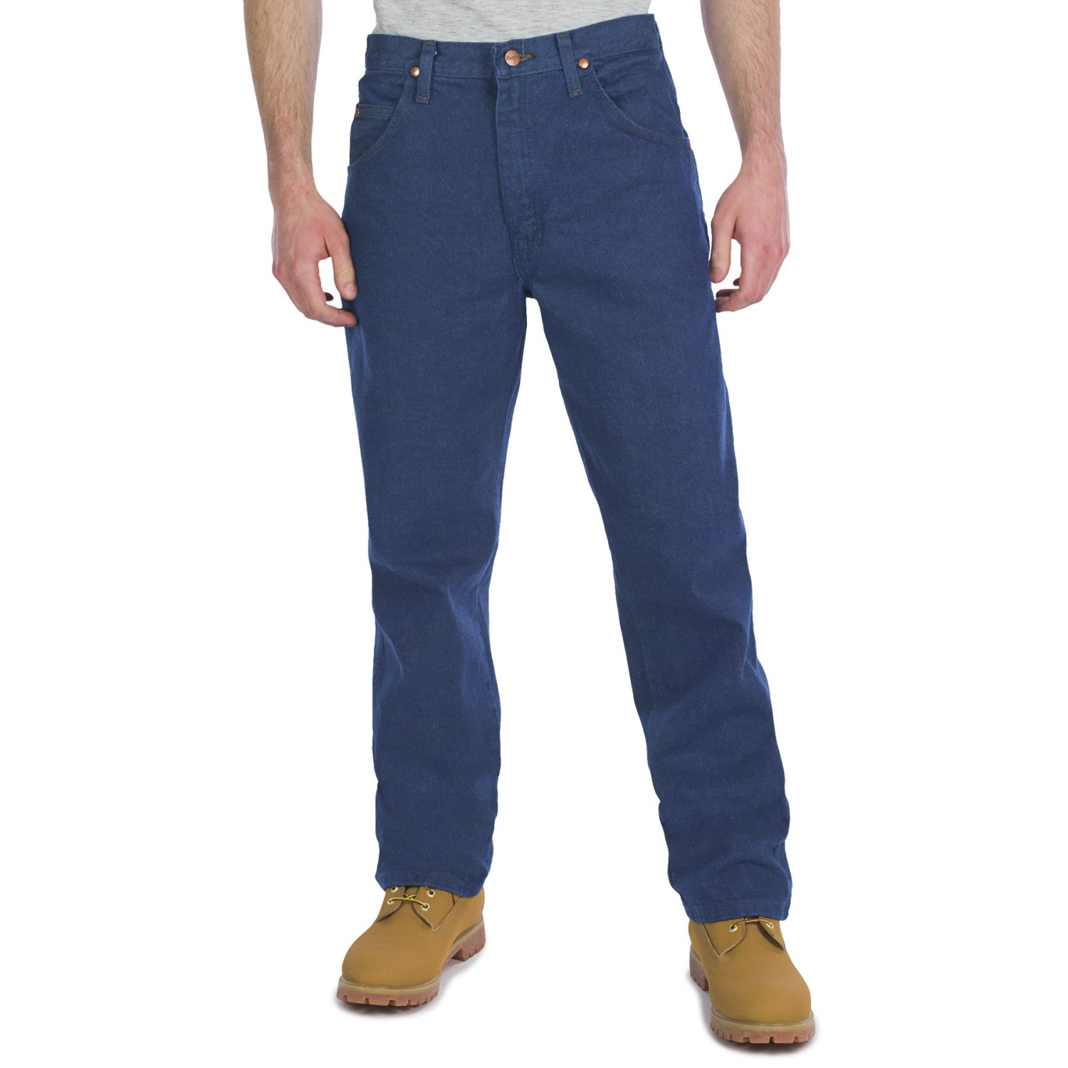 wrangler cowboy cut relaxed fit jeans for men save 57